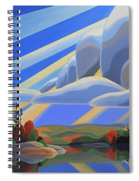 Silent Arrival Spiral Notebook