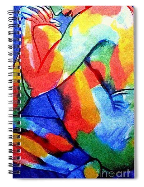 Silent Pensive Figure Spiral Notebook
