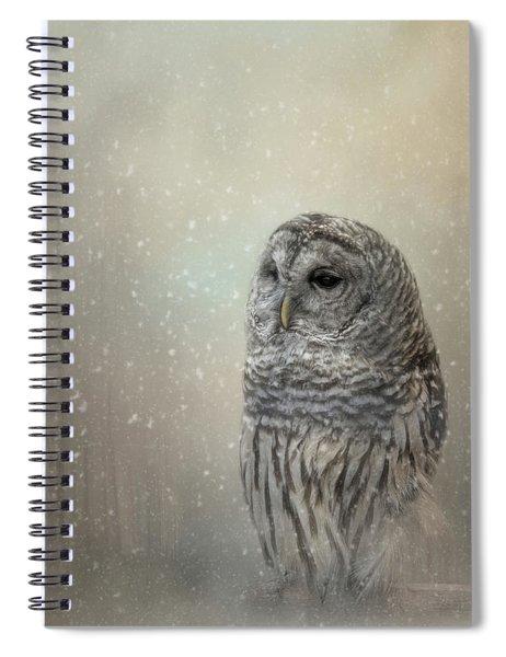 Silent Snow Fall Spiral Notebook