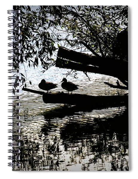 Silhouette Ducks #h9 Spiral Notebook
