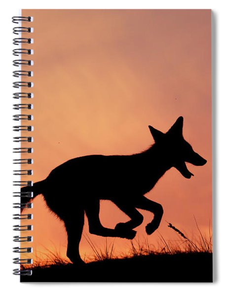Silhouette Series - Happy Fox Spiral Notebook