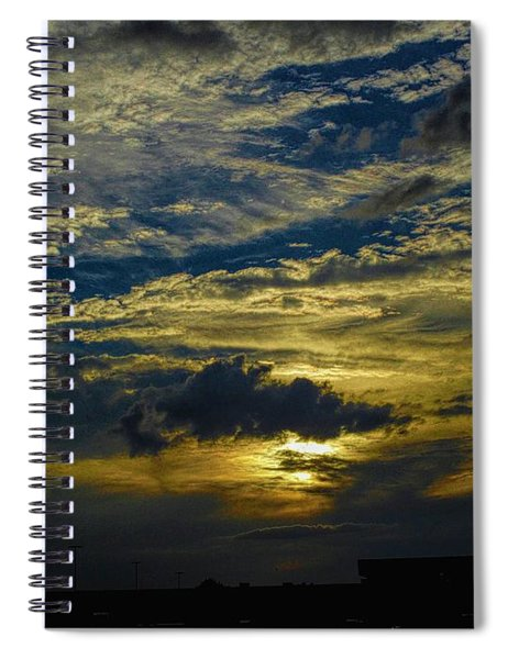 Silver, Blue And Gold Spiral Notebook