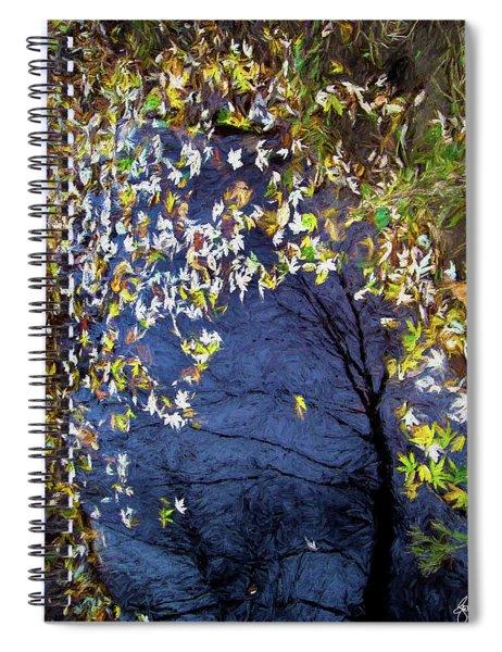 Silver Maple In Green Spiral Notebook