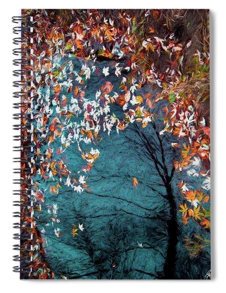 Silver Maple In Orange Spiral Notebook