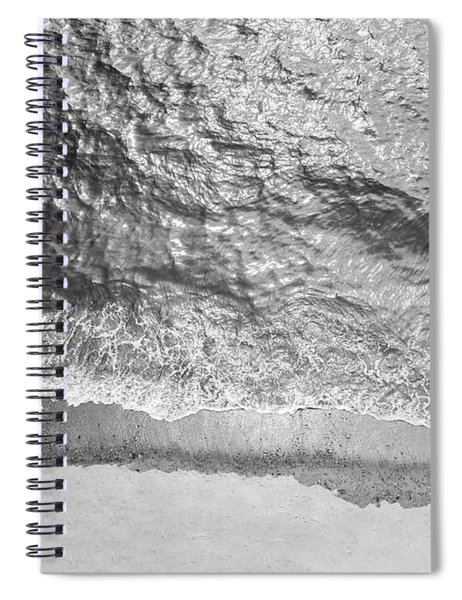 Simple Beach Wave Black And White Spiral Notebook
