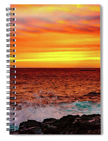 Simple Warm Splash Spiral Notebook