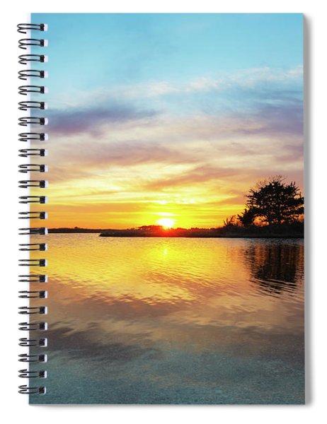 Sinepuxent Basy Sunset  Spiral Notebook