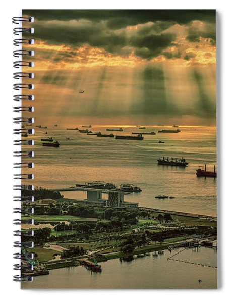 Singapore Harbour Spiral Notebook