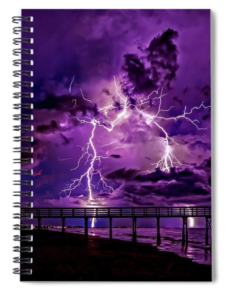 Siren's Song In Purple Spiral Notebook