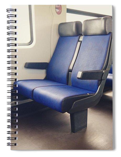 Sitting On Trains Spiral Notebook