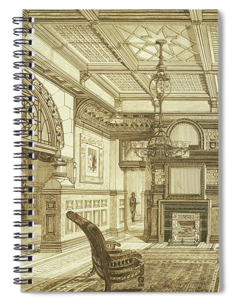 Sitting Room Of Bardwold, Merion Pa Spiral Notebook