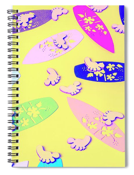 Sixties Surf Spiral Notebook