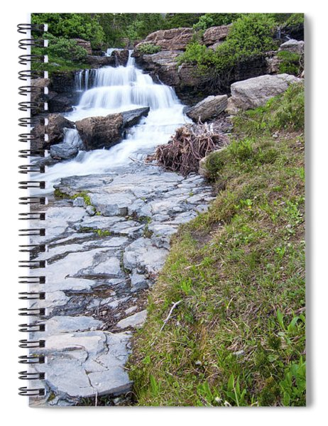 Siyeh Creek Falls Spiral Notebook
