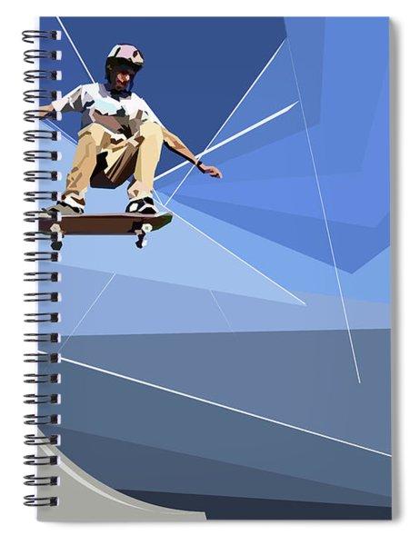 Skateboarder Spiral Notebook