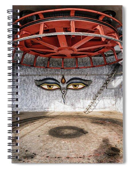 Ski Lift Turnaround Spiral Notebook