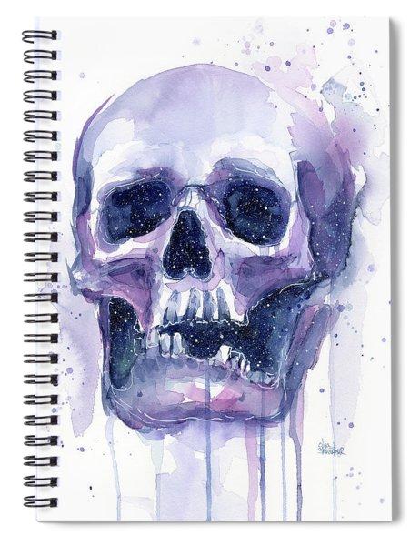 Skull In Space Spiral Notebook