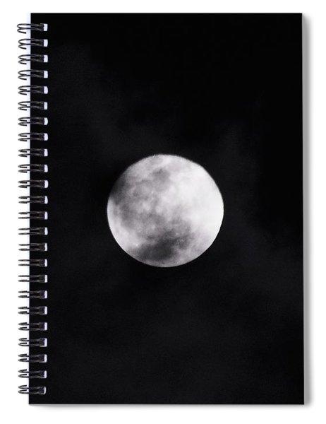 Skull Moon Spiral Notebook