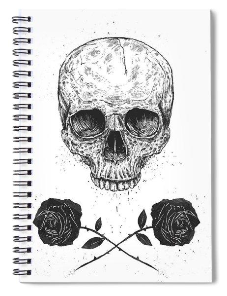 Skull N' Roses Spiral Notebook