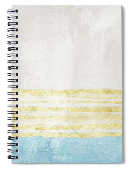 Sky Blue 1- Art By Linda Woods Spiral Notebook by Linda Woods