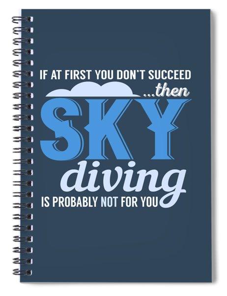 Sky Diving Spiral Notebook