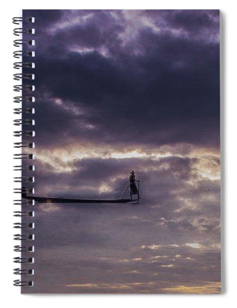 Sky Fisherman Spiral Notebook