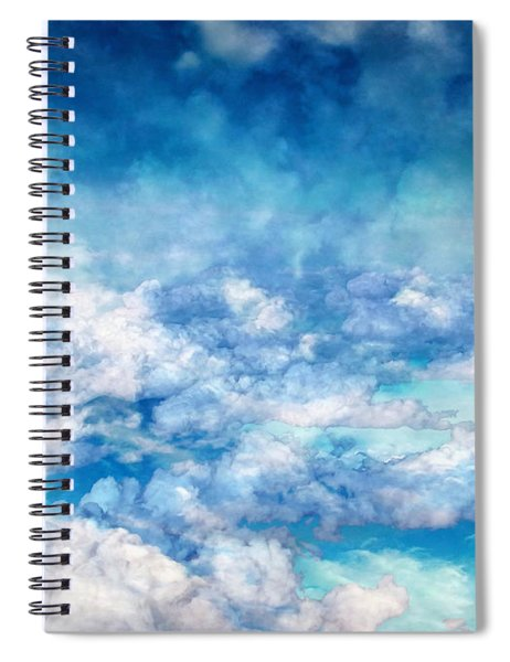 Sky Moods - A View From Above Spiral Notebook