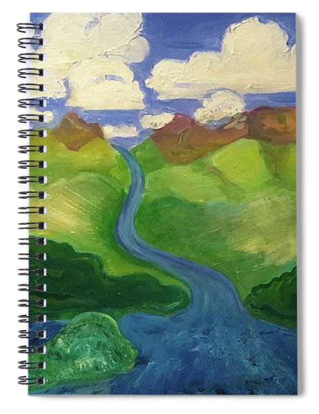 Sky River To Sea Spiral Notebook