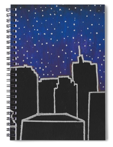 Spiral Notebook featuring the painting Skyline New Orleans by Samantha Galactica