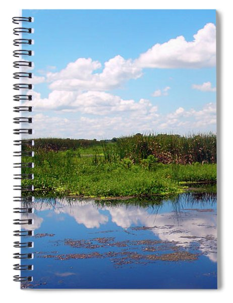Skyscape Reflections Blue Cypress Marsh Near Vero Beach Florida C6 Spiral Notebook