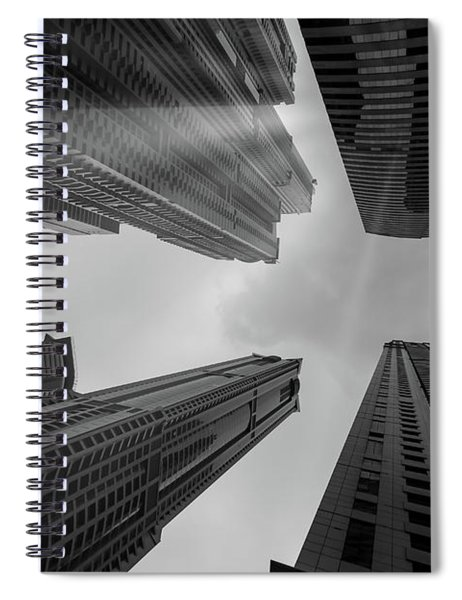 Skyscrapers Reach The Heaven Spiral Notebook