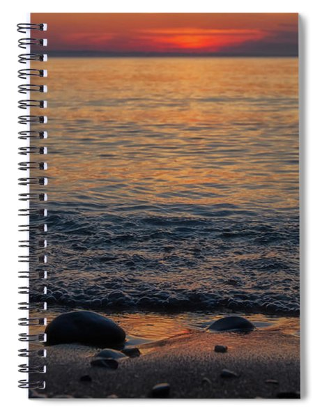 Spiral Notebook featuring the photograph Sleeping Bear Bay 2 by Heather Kenward