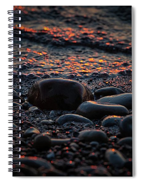 Spiral Notebook featuring the photograph Sleeping Bear Bay 5 by Heather Kenward