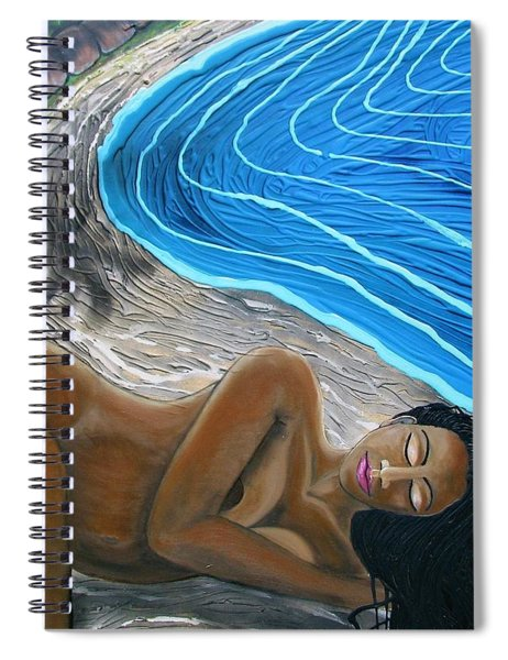 Sleeping Nude Spiral Notebook