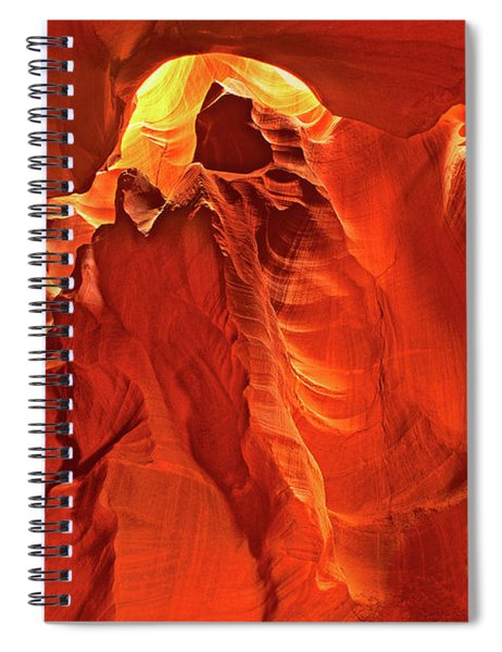 Slot Canyon Formations In Upper Antelope Canyon Arizona Spiral Notebook