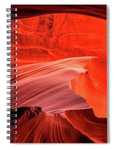 Slot Canyon Waves 1 Spiral Notebook