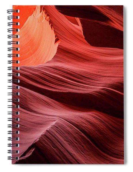 Slot Canyon Waves 2 Spiral Notebook