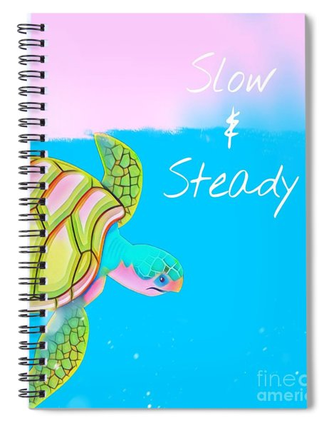 Slow And Steady Spiral Notebook