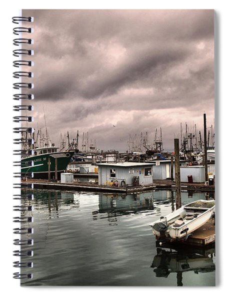 Slow Day At Ilwaco  Spiral Notebook