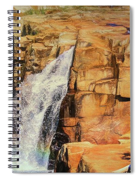 Small Waterfall In Adirondack Park. Spiral Notebook