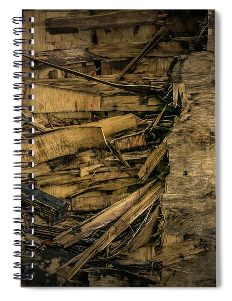 Smashed Wooden Wall Spiral Notebook