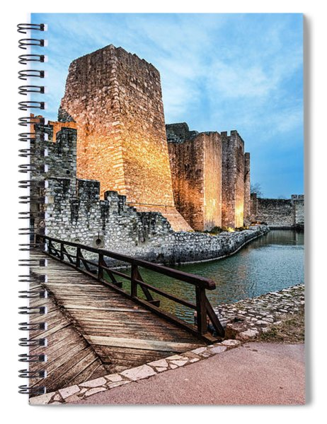 Smederevo Fortress Gate And Bridge Spiral Notebook