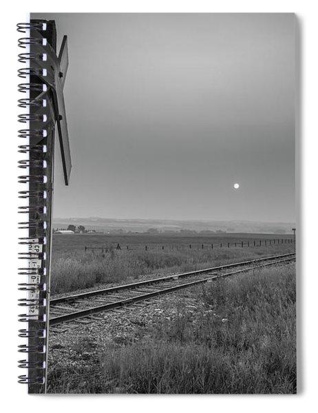 Smoke Haze Over The Prairie Spiral Notebook