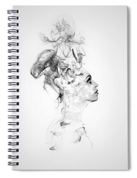Smoke Woman Spiral Notebook