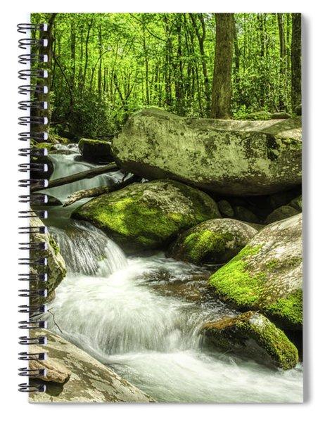 Smoky Mountains In Spring Spiral Notebook by Mel Steinhauer