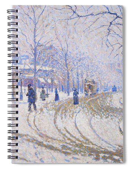 Snow, Boulevard De Clichy, Paris - Digital Remastered Edition Spiral Notebook