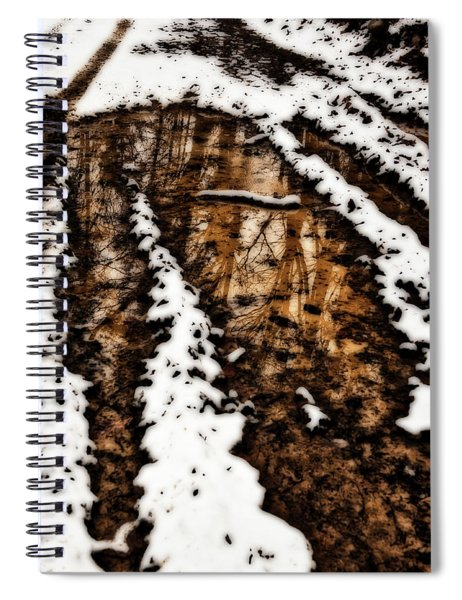 Snow Bound Reflections Spiral Notebook