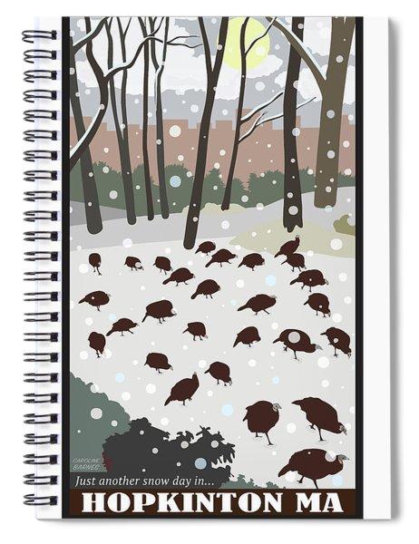 Snow Day In Hopkinton Spiral Notebook