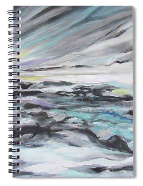 Snow Flow Spiral Notebook