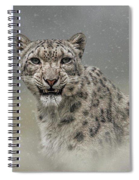 Snow Ghost Spiral Notebook
