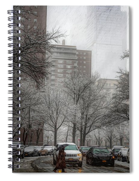 Snow In The City Spiral Notebook by Alison Frank